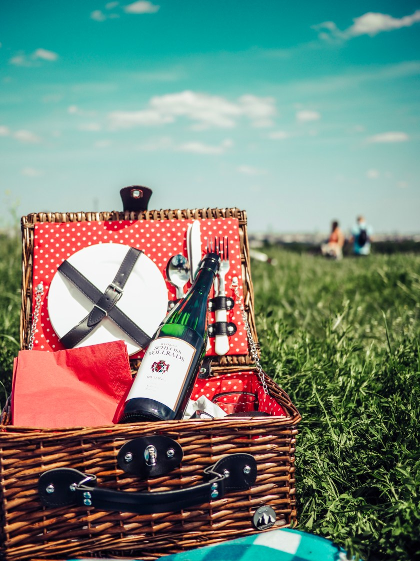 Picnic basket on the Dragon's Hill, Berlin's forgotten viewpoint