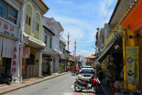 Shophouses along Jonker Street