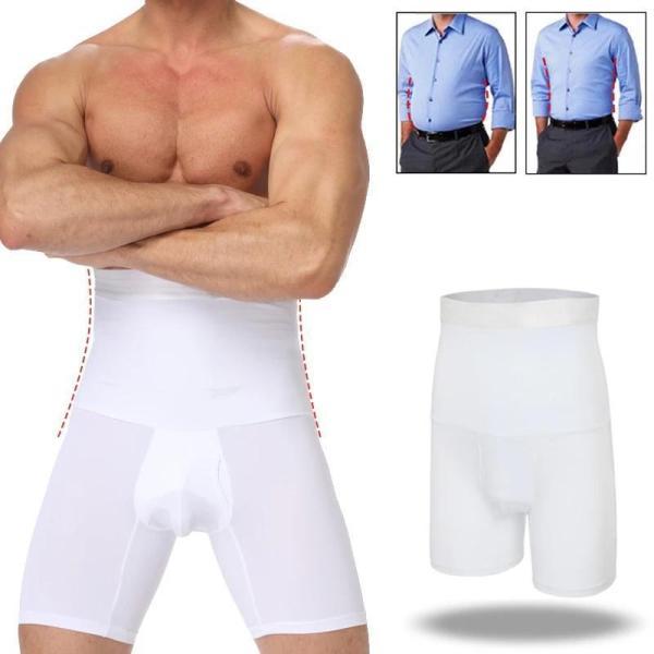 Bermuda - Alta Compressão na cor branca, Reduz Medidas E Modela  Slim Shape Man no corpo de um homem- The Best Acessórios