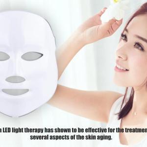 Máscara de Led Antienvelhecimento Facial 7 Cores Tratamento Estético Fototerapia - The Best Acessórios