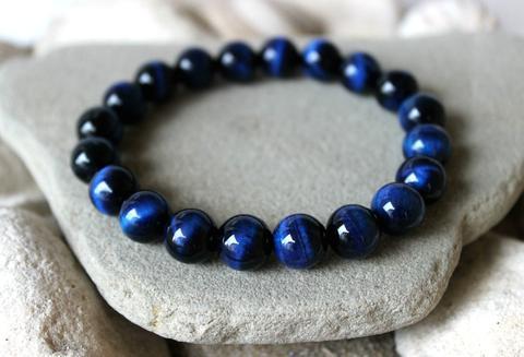 Pulseira Olho de Tigre Azul - The Best Acessórios