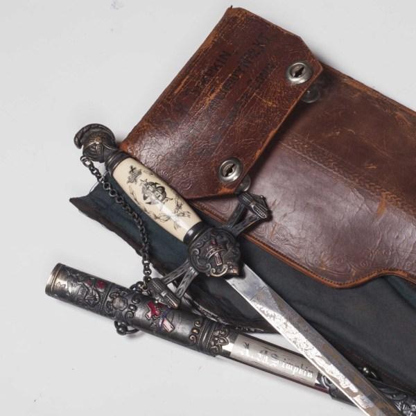 Antique Masonic Knights Sword in Original Case