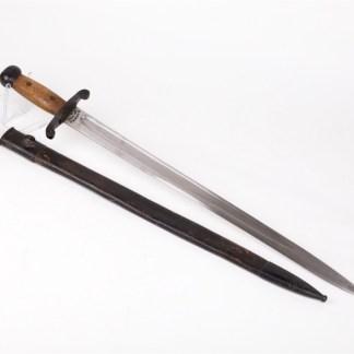 Japanese wood handled Artillery Sword.