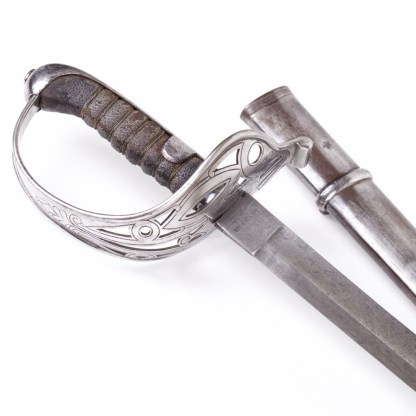 Austrian German Made Damascus Officers Sword