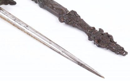"Huge European Romantic Dagger ""Othello"""