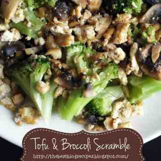 Tofu and Broccoli Scramble