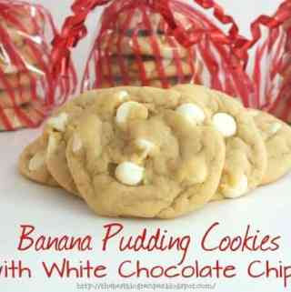 Banana Pudding Cookies with White Chocolate Chips