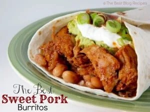 The Best Sweet Pork Burritos recipe from The Best Blog Recipes