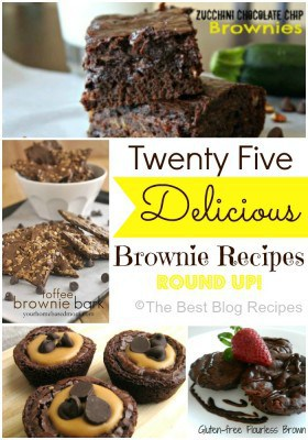 25 Delicious Brownie Recipes Round Up!