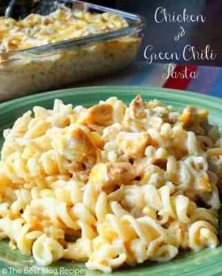Chicken Green Chili Pasta recipe from The Best Blog Recipes (smaller)