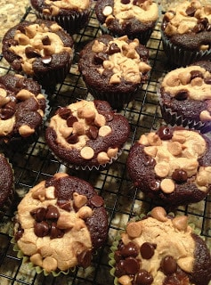 Chocolate Peanut Butter Layered Cupcakes recipe from The Cookin ...