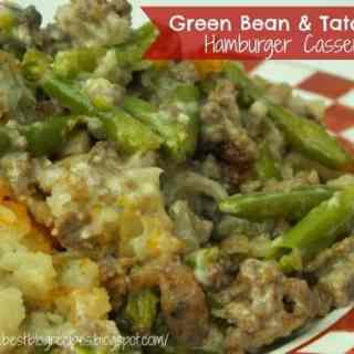 Green Bean and Tator Tot Hamburger Casserole