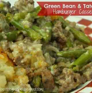 Green Bean and Tator Tot Hamburger Casserole