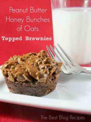 Peanut Butter Crunchy Brownies | The Best Blog Recipes