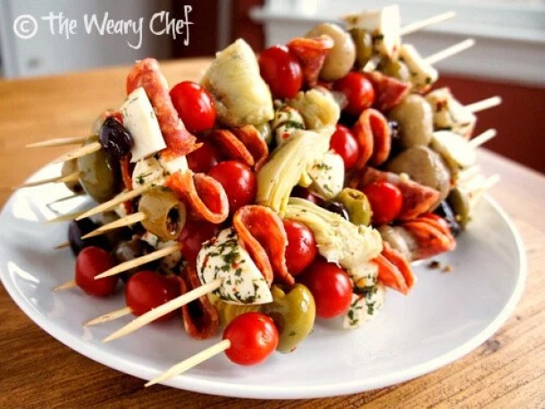 Antipasto Skewers -- part of The Most Delicious Appetizer Recipes
