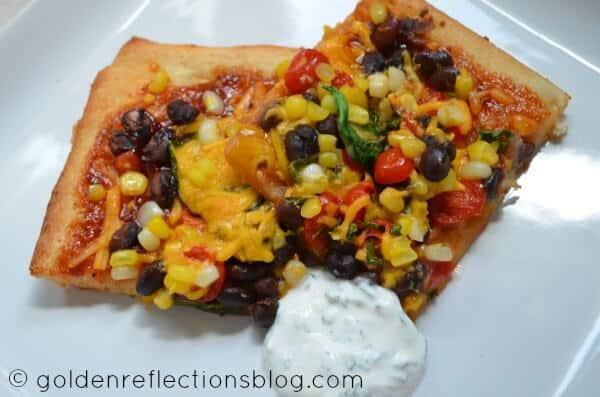 BBQ Black Bean & Corn Pizza