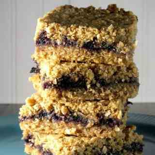 Blueberry Oatmeal Bars with Rich & Creamy Melt Organic Buttery Spread!