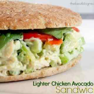 Lighter Chicken Avocado Salad Sandwich