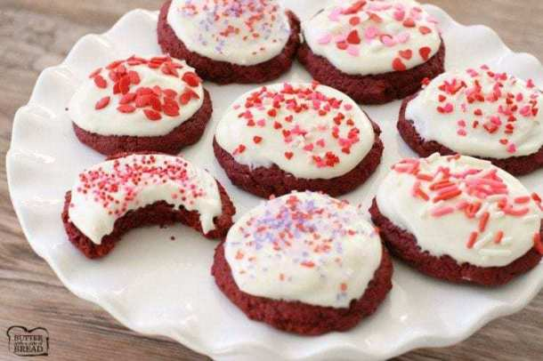Red Velvet Valentine Cookies -- Part of the Best Valentine's Day Cookies