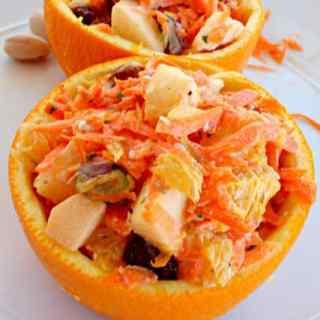 Carrot Pistachio Fruit Salad