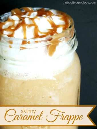 Skinny Caramel Frappe + a Giveaway for Millstone® coffee & a Mr. Coffee® maker!