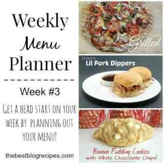Weekly Menu Planner #3