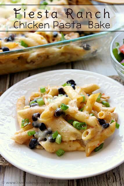 Fiesta Ranch Chicken Pasta Bake | The Best Blog Recipes Casserole Recipe Round Up