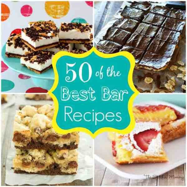 50 of The Best Bar Recipes featured on The Best Blog Recipes