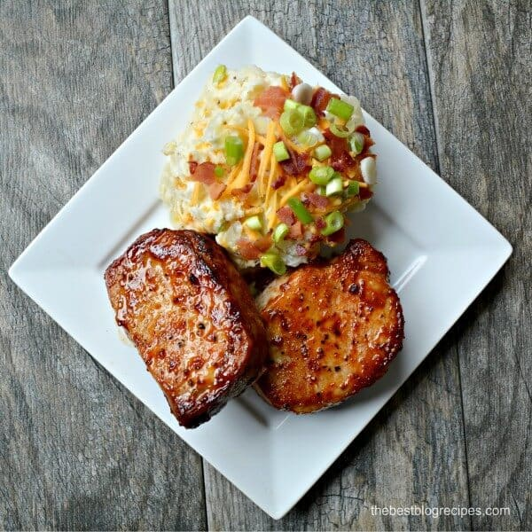 Barbecue Pork Chops & Loaded Baked Potato Salad | The Best Blog Recipes