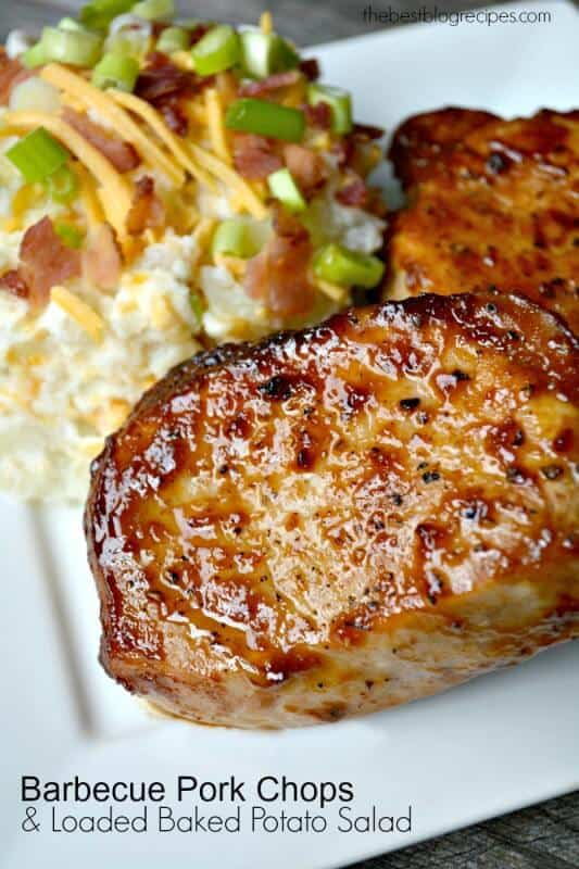 Pan Seared Oven Roasted Barbecue Pork Chops | The Best Blog Recipes