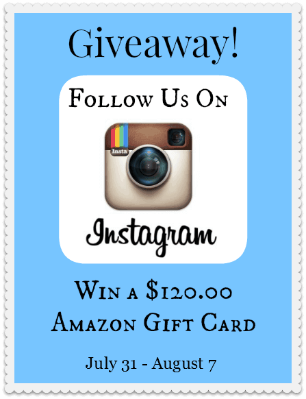 Instagram Giveaway July 31st - Aug 7th | thebestblogrecipes.com #giveaway
