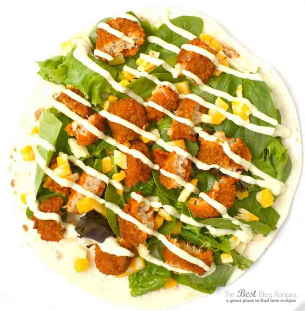 Buffalo Chicken Avocado Ranch Wraps from thebestblogrecipes.com
