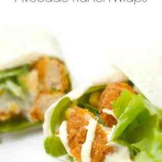 Buffalo Chicken Avocado Ranch Wraps