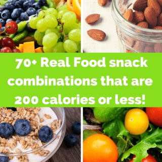 Real Food Snack Ideas that are 200 Calories or Less!