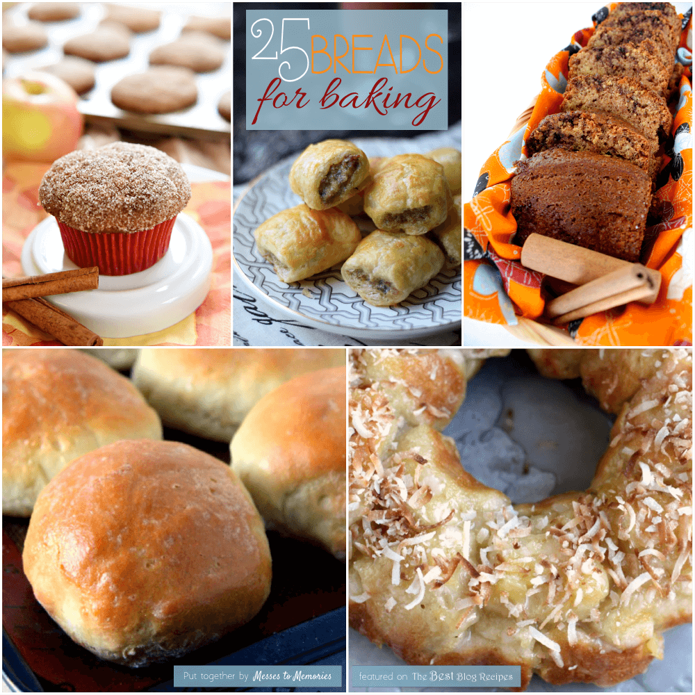 25 Breads for Baking Recipe Round Up | thebestblogrecipes.com