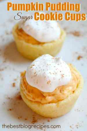Pumpkin Pudding Sugar Cookie Cups