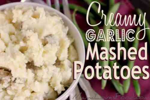 Creamy Garlic Mashed Potatoes featured on 26 Christmas Recipes from The Best Blog Recipes