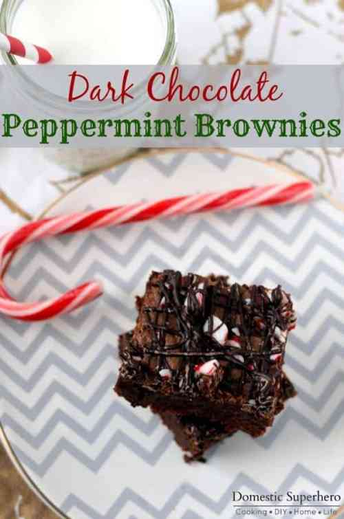 Dark Chocolate Peppermint Brownies featured in 18 Peppermint Desserts on The Best Blog Recipes
