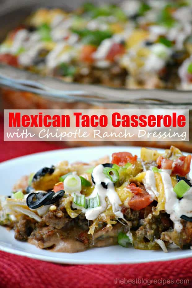 Mexican Taco Casserole recipe from thebestblogrecipes.com