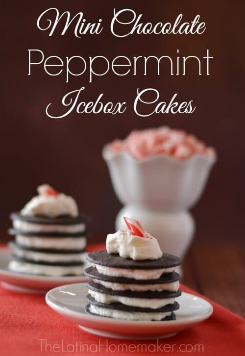 Mini Chocolate Peppermint Icebox Cakes featured in 18 Peppermint Desserts on The Best Blog Recipes