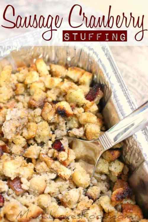 Sausage Cranberry Stuffing featured on 26 Christmas Recipes from The Best Blog Recipes