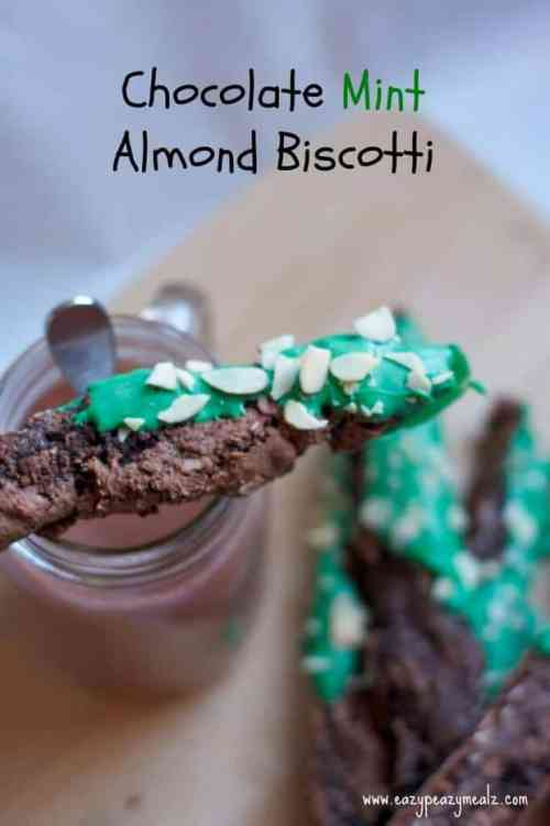Chocolate Mint Almond Biscotti featured in 18 Peppermint Desserts on The Best Blog Recipes
