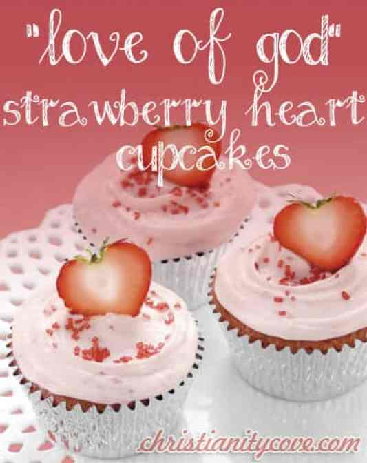 Strawberry Heart Cupcakes featured on 30 Valentine's Day Recipes from The Best Blog Recipes