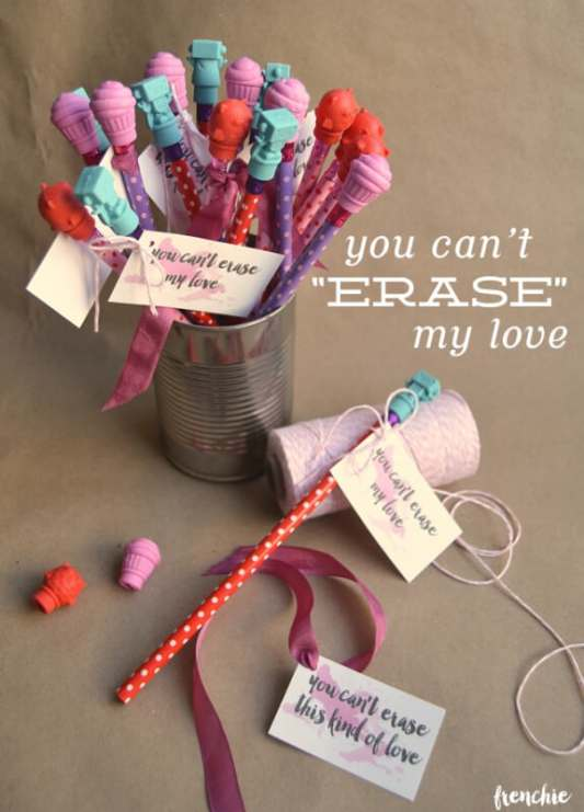 You Can't Erase My Love Valentine featured on 25 Valentine's Day Crafts from The Best Blog Recipes