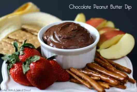 Chocolate Peanut Butter Dip featured on 45 Healthier Recipes from The Best Blog Recipes