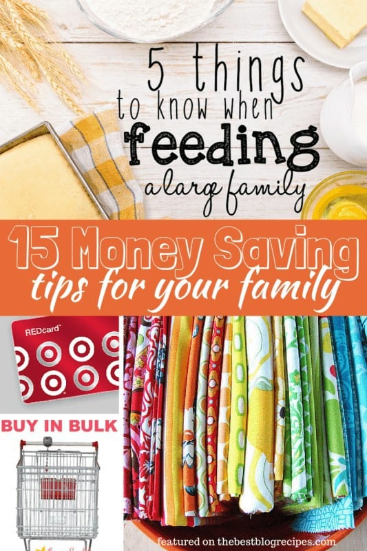 15 Money Saving Tips for your family from The Best Blog Recipes