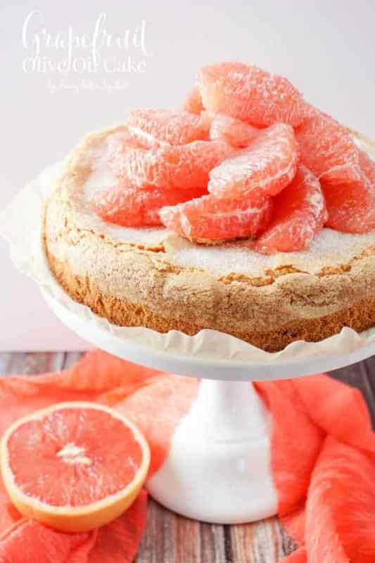 Grapefruit Cake featured on 45 Healthier Recipes from The Best Blog Recipes