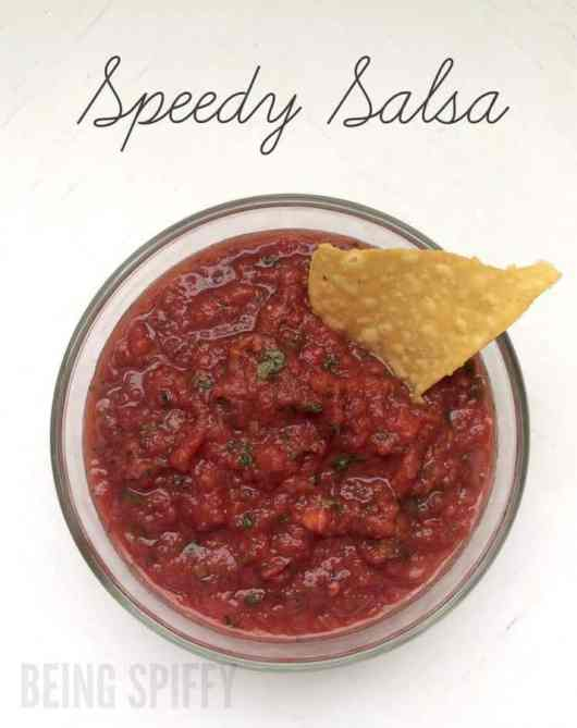 Speedy Salsa featured on 45 Healthier Recipes from The Best Blog Recipes