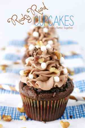 Rocky Road Cupcakes featured from Living Better Together on The Best Blog Recipes