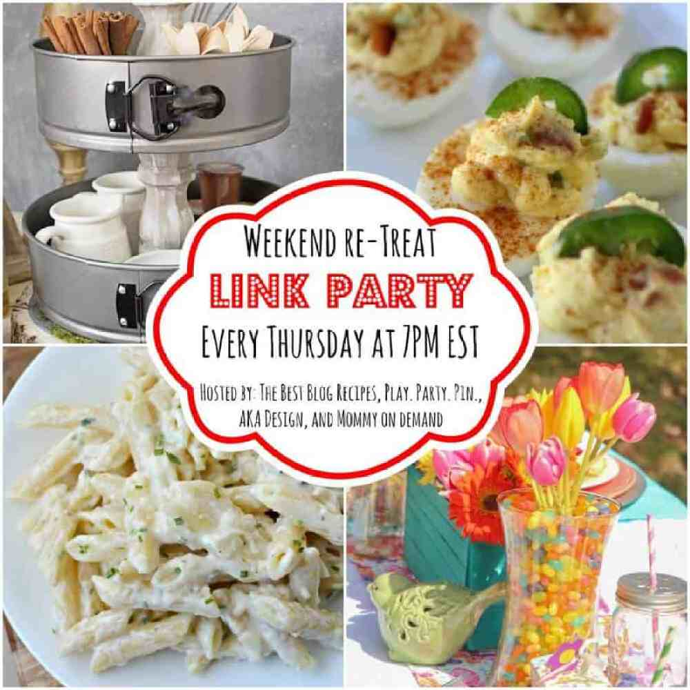 The Weekend re-Treat Link Party #115 on The Best Blog Recipes